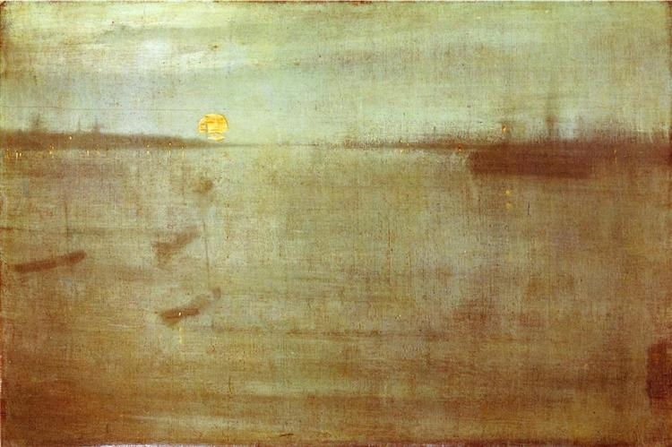 Whistler Nocturne Blue and Gold Southampton Water, 1872 - James McNeill Whistler