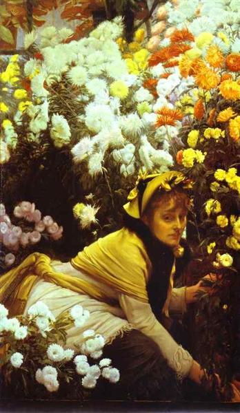 Chrysanthemums, c.1875 - Джеймс Тіссо