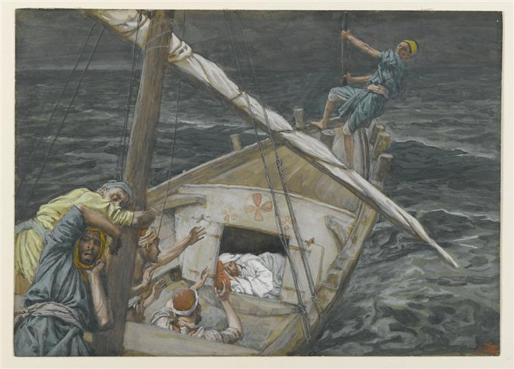 Jesus Sleeping During the Tempest - James Tissot