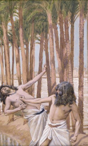Moses Slays an Egyptian, c.1896 - c.1902 - James Tissot