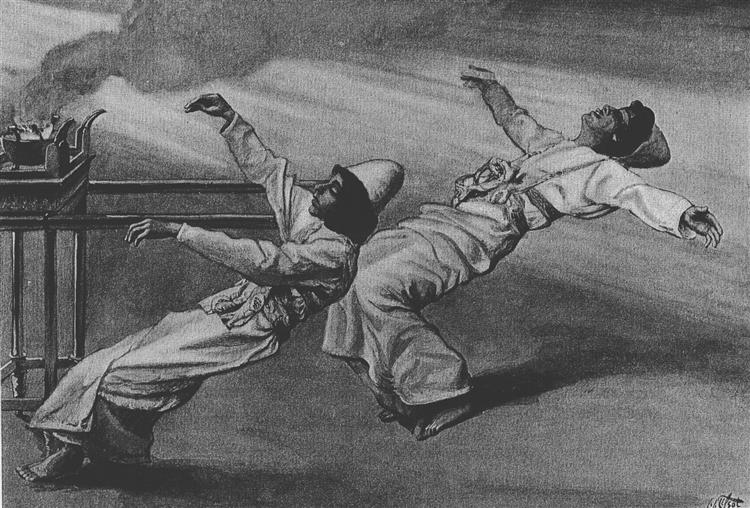 Nadab and Abihu are killed in the Tabernacle, Leviticus, 1896 - 1900 - James Tissot