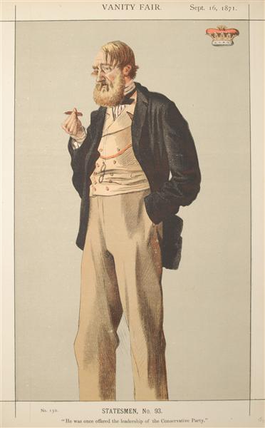 Statesmen No.930 Caricature of The Duke of Rutland - James Tissot