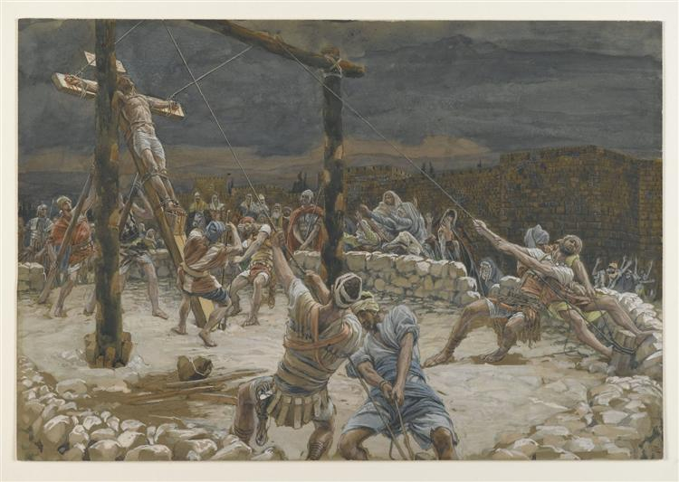 The Raising of the Cross (L'élévation de la Croix) - James Tissot