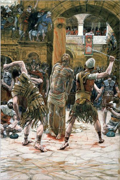 The Scourging on the Front (La flagellation de face) - James Tissot