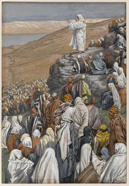 The Sermon on the Mount, illustration for 'The Life of Christ', c.1886 - c.1896 - Джеймс Тиссо
