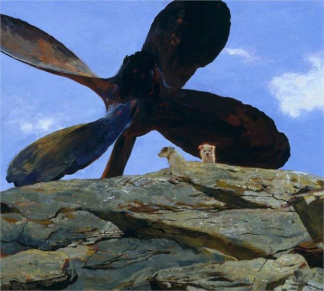 Wreck of the Polias, 2002 - Jamie Wyeth