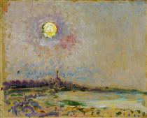 Landscape with full moon - Jan Sluyters