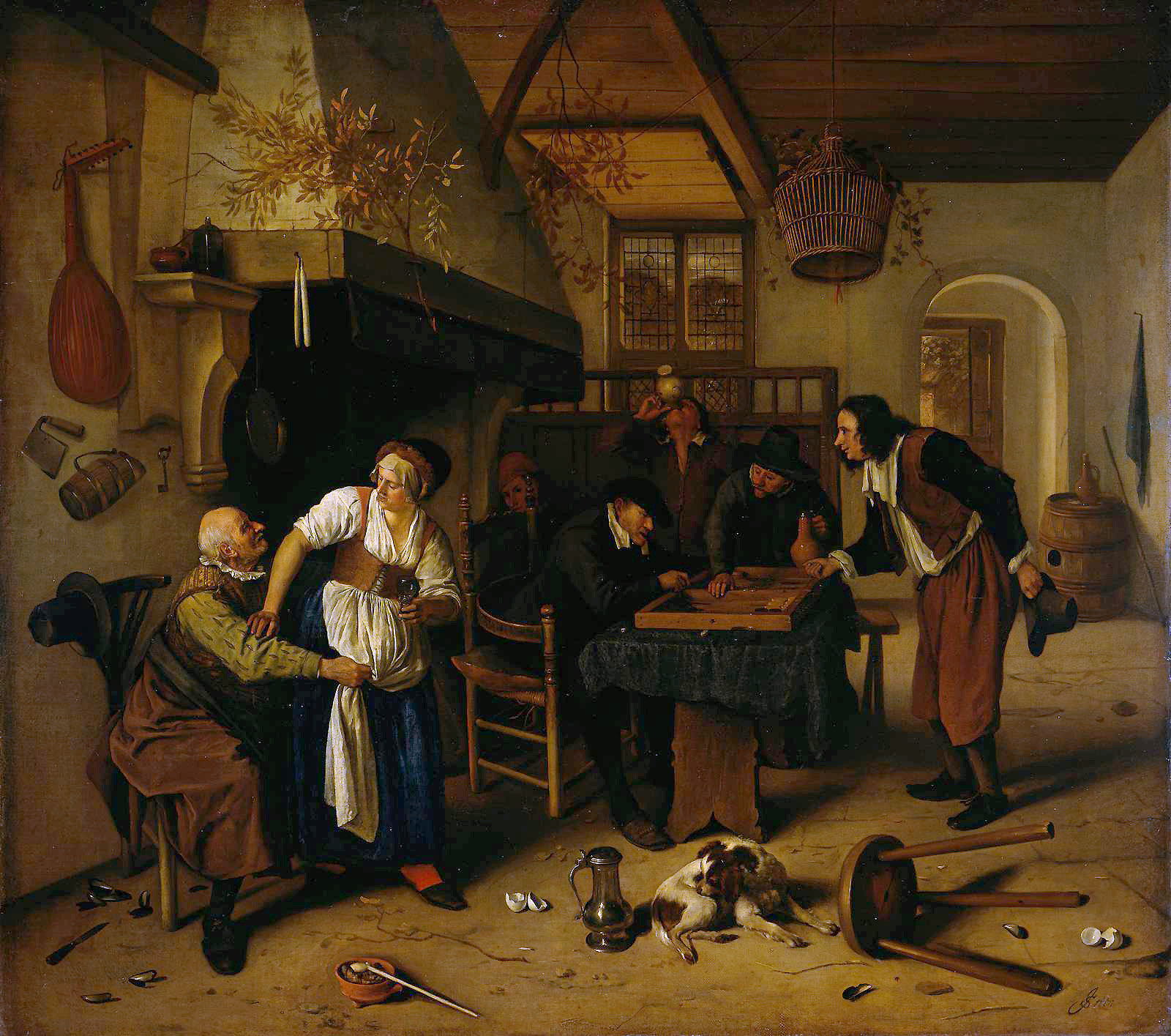 In the tavern 1660 jan steen for Interieur steen