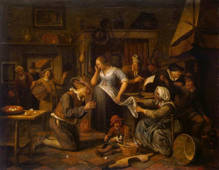 Marriage Contract, c.1668 - Jan Steen