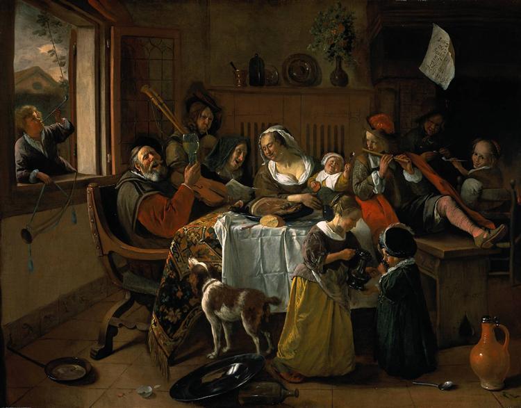 Merry family, 1668 - Jan Steen