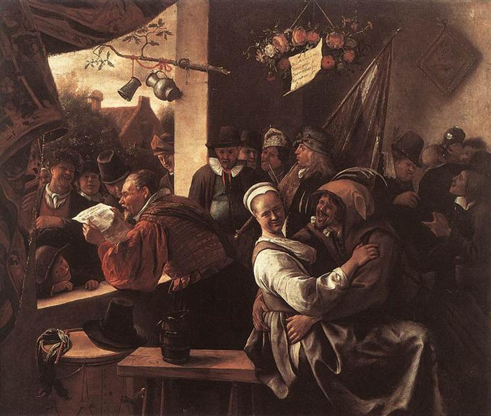 Rhetoricians, 1665 - 1668 - Jan Steen