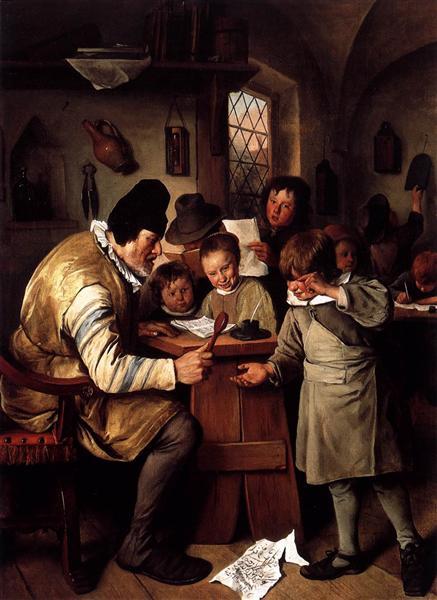 Schoolmaster, 1663 - 1665 - Jan Steen