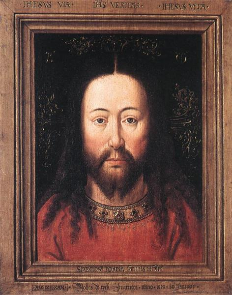 portrait of christ 1440 jan van eyck wikiart org