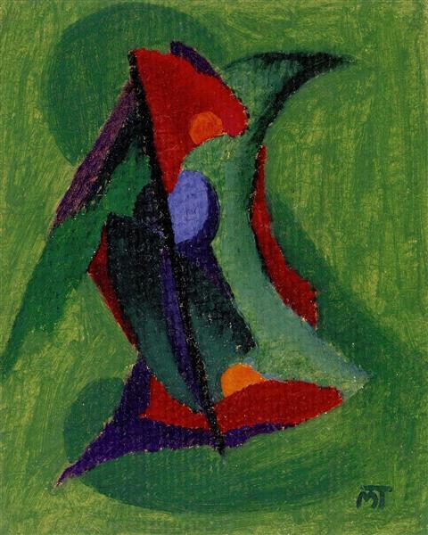 Green Flower of the Soul - Janos Mattis-Teutsch