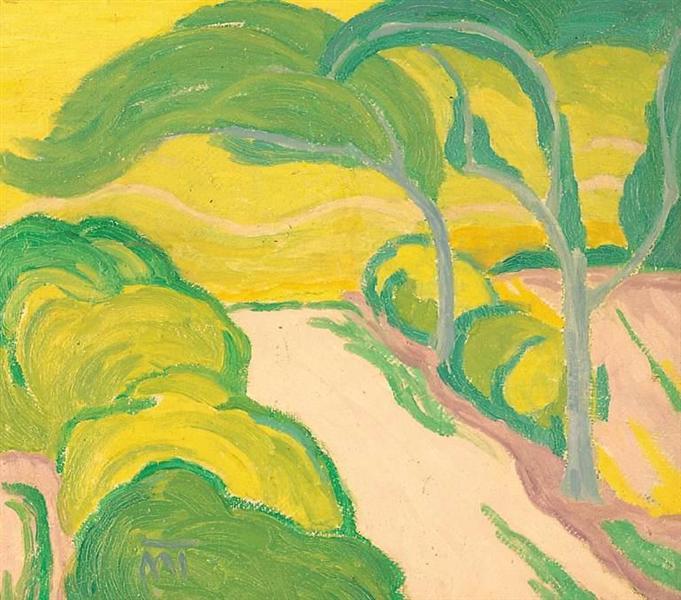 Landscape with Road, 1916 - János Máttis-Teutsch