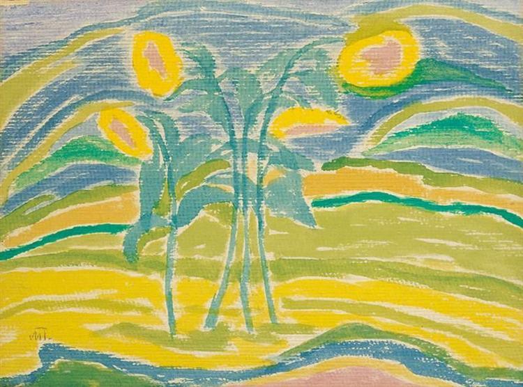 Sunflowers, 1910 - Janos Mattis-Teutsch