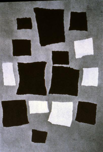 Squares or Rectangles Arranged According to the Laws of Chance, 1916 - 1917 - Jean Arp