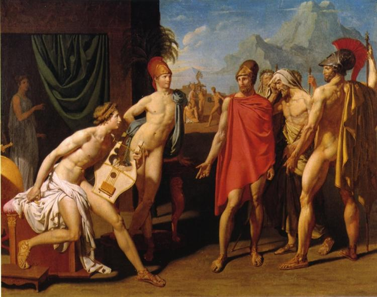 Ambassadors Sent by Agamemnon to Urge Achilles to Fight, 1801 - Jean Auguste Dominique Ingres