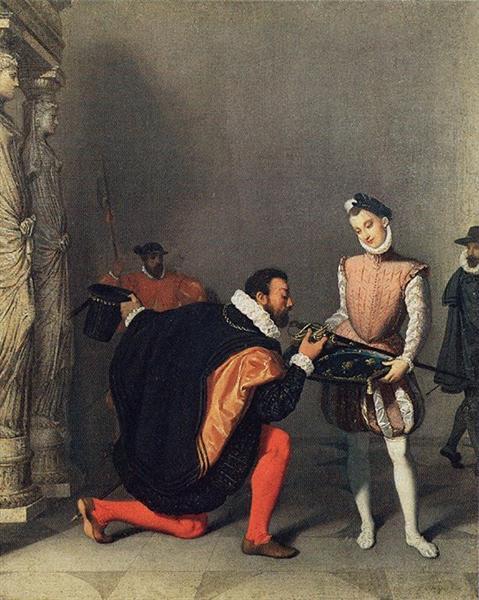 Don Pedro of Toledo Kissing the Sword of Henri IV - Jean Auguste Dominique Ingres