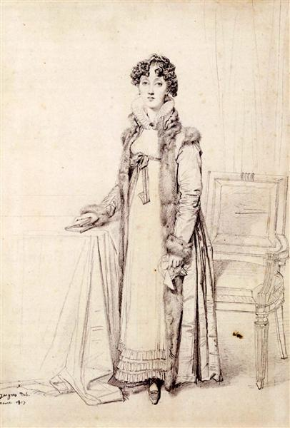 Lady William Henry Cavendish Bentinck, born Lady Mary Acheson - Jean Auguste Dominique Ingres
