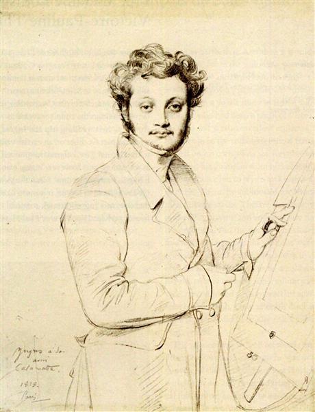 Luigi Calamatta - Jean Auguste Dominique Ingres