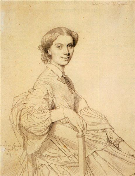 Madame Charles Gounod, born Anna Zimmermann - Jean Auguste Dominique Ingres