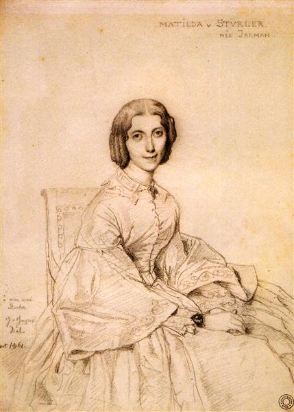 Madame Franz Adolf von Stuerler, born Matilda Jarman - Jean Auguste Dominique Ingres