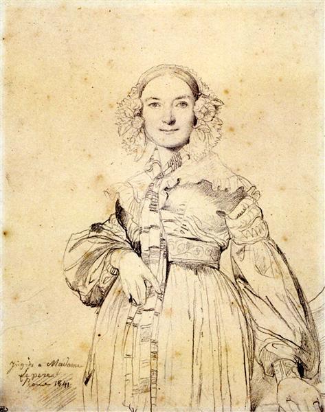 Madame Jean Auguste Dominique Ingres, born Madeleine Chapelle - Jean Auguste Dominique Ingres