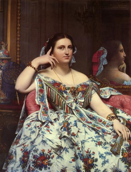 Portrait of Madame Moitessier Sitting, 1856 - Jean-Auguste Dominique Ingres