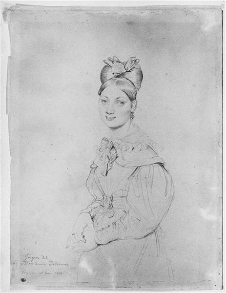 Portrait of miss Bonnard - Jean Auguste Dominique Ingres