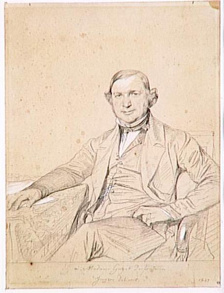 Portrait of Mr. Guyot Desfontaines - Jean Auguste Dominique Ingres