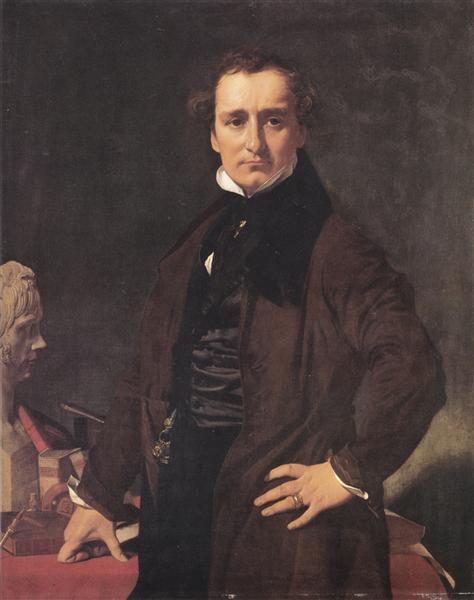 Portrait of the Sculptor Lorenzo Bartolini, 1820 - Jean Auguste Dominique Ingres