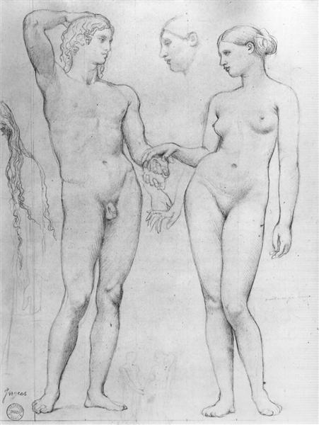Study for The Golden Age, 1862 - Jean Auguste Dominique Ingres