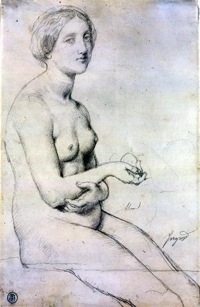 Этюд для Венеры Пафосской, 1852 - Жан Огюст Доминик Энгр