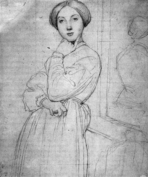 Study for Vicomtesse d'Hausonville, born Louise Albertine de Broglie I - Jean Auguste Dominique Ingres