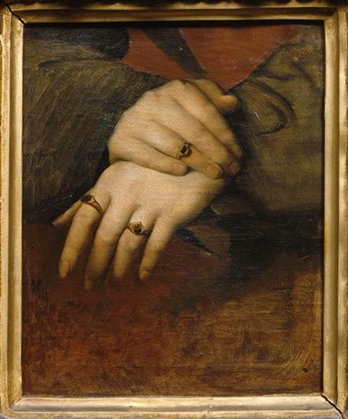 Study of a woman's hands - Jean-Auguste-Dominique Ingres