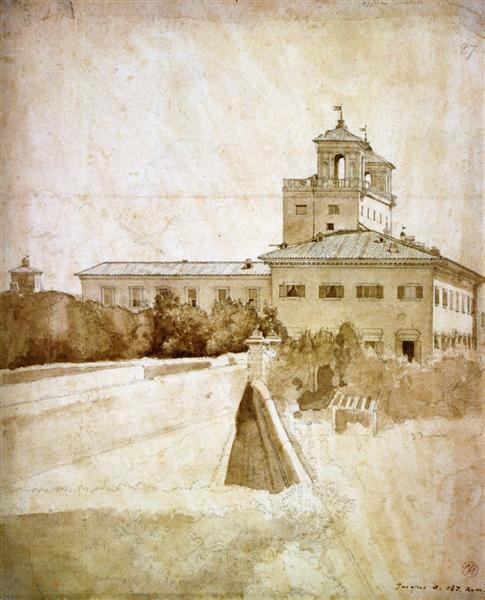 View of the Villa Medici, 1807 - Jean Auguste Dominique Ingres