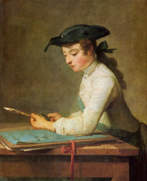Draughtsman, 1737 - Jean-Baptiste-Simeon Chardin