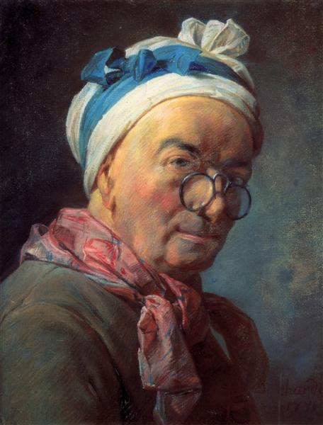 Self-Portrait with Spectacles, 1771 - Jean-Baptiste-Simeon Chardin