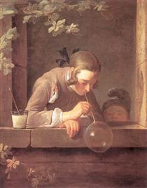 Soap Bubbles - Jean-Baptiste-Simeon Chardin