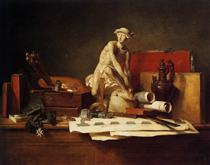 The Attributes of Art - Jean-Baptiste-Simeon Chardin