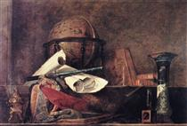 The Attributes of the Sciences - Jean-Baptiste-Simeon Chardin