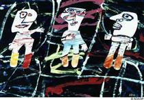 Scenic triplex - Jean Dubuffet