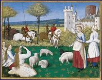 Sainte Marguerite and Olibrius, also known as Marguerite Keeping Sheep - Jean Fouquet
