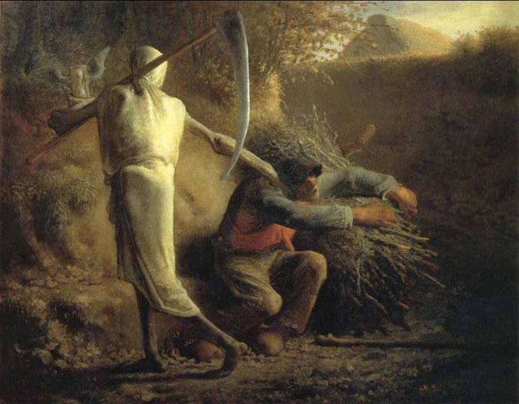 Death and the woodcutter - Jean-Francois Millet