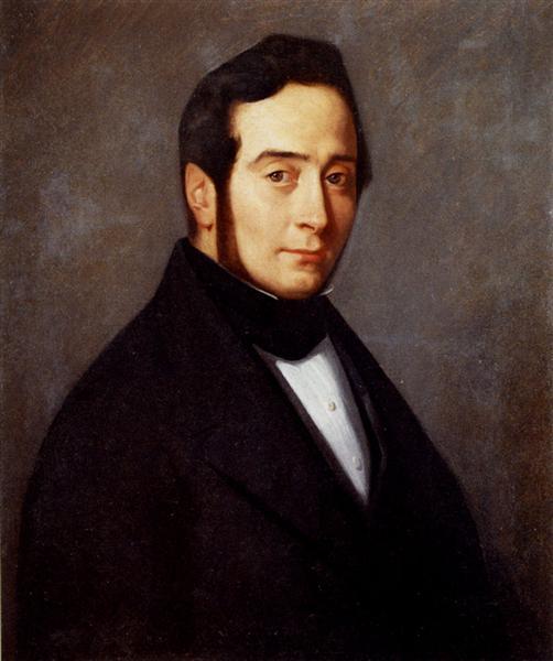 Portrait Of Eugene Canoville, 1840 - Jean-Francois Millet