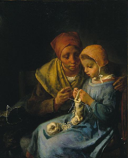 The Knitting Lesson, 1869 - Jean-Francois Millet