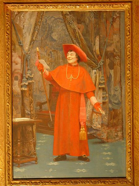 Cardinal, Reading a Letter - Жан Жорж Вибер