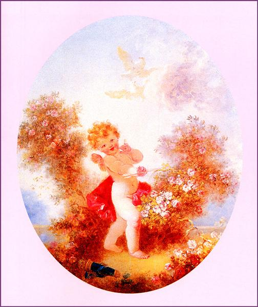 Cupid Between The Roses - Jean-Honore Fragonard