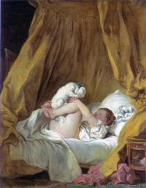 Girl with a Dog - Jean-Honore Fragonard